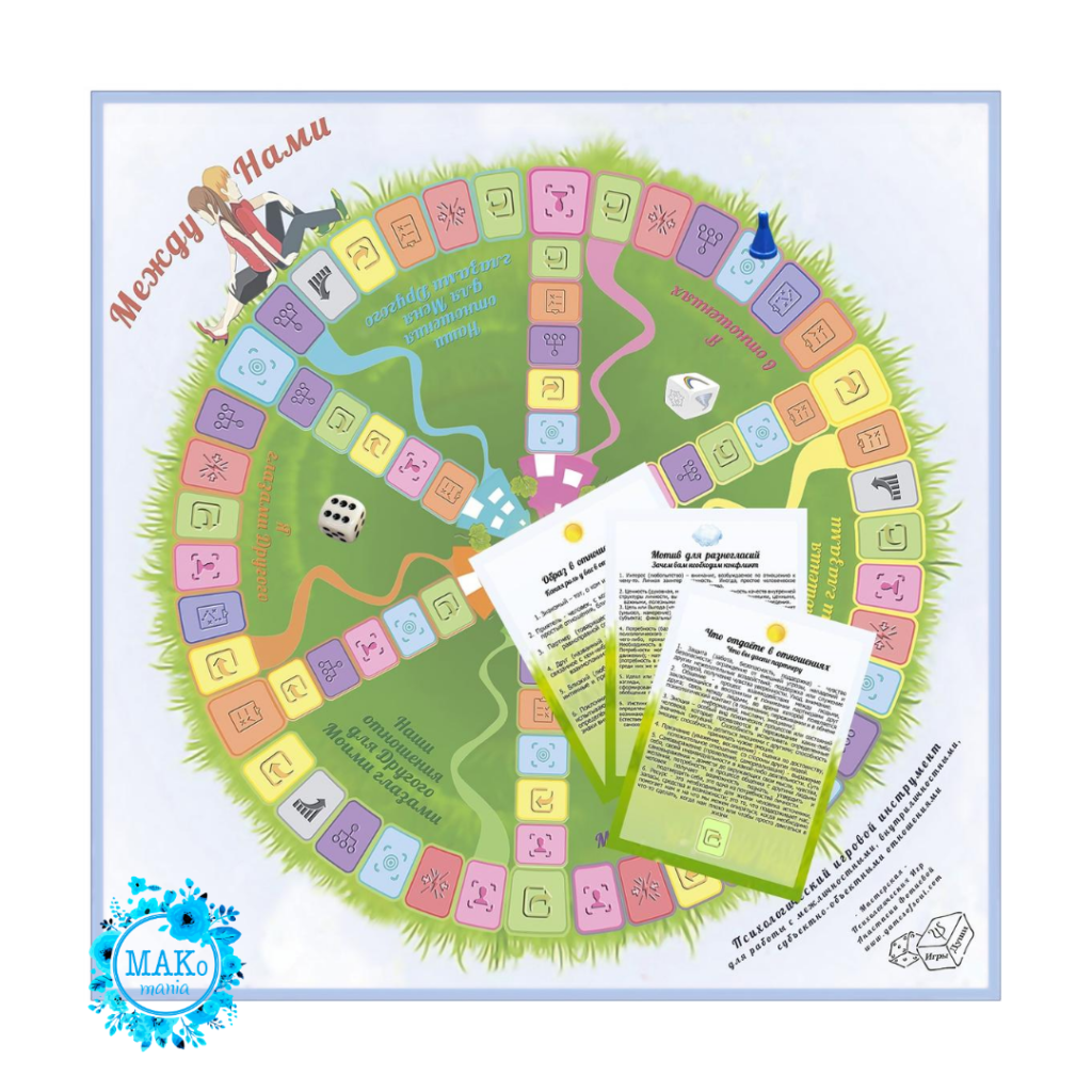 Между нами, Макомания, психологическая игра, метафорические карты, МАК