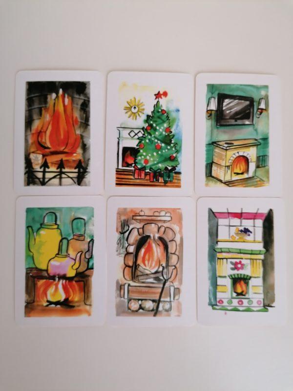 Огонь в камине, Макомания, метафорические карты, интернет-магазин МАК, купить мак